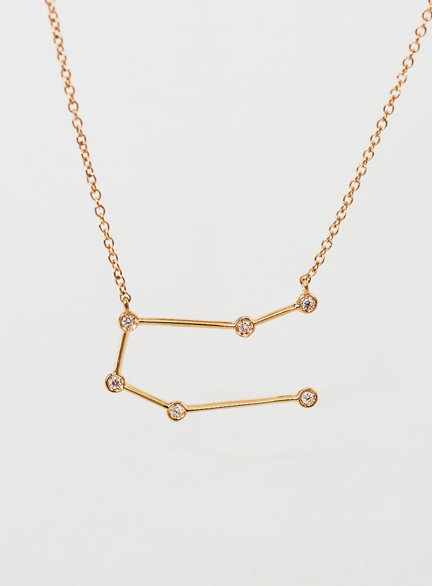 Star Sign Necklace Gemini Gold