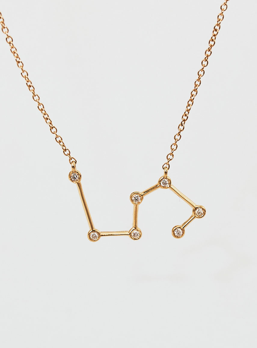 Star Sign Necklace Leo Gold
